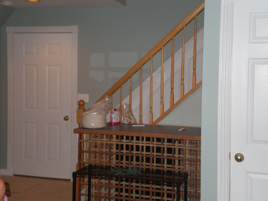 staircase & shelf